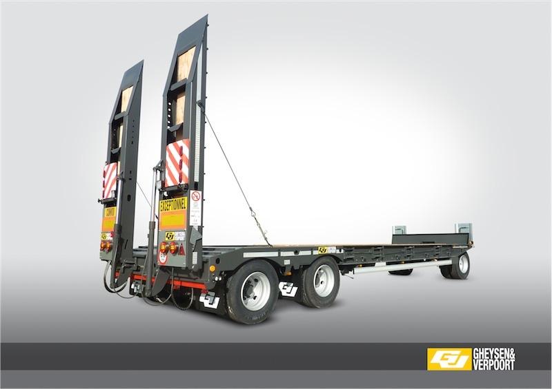 Remorque porte engins trois essieux 30 tonnes gheysen for Porte engin 60 tonnes