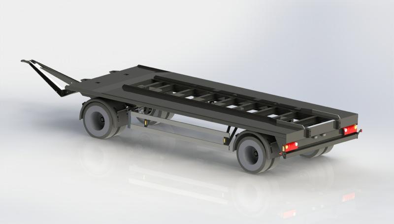 Remorque porte conteneurs structure auto portante gheysen for Structure conteneur
